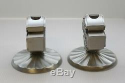 Harley-Davidson Pewter Bar & Shield Candle Holders
