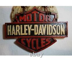 Harley-Davidson Proud Eagle Bar & Shield Handmade Resin and Wood Decoration Sign