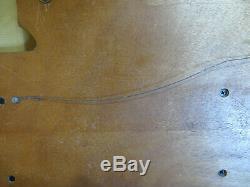 Harley Davidson Shot Glasses Bone Font & Wooden Bar & Shield Display Case RARE