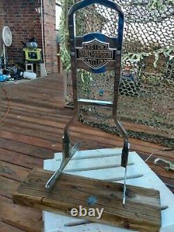 Harley Davidson Shovelhead / Ironhead Cool Sissy Bar With Bar And Shield