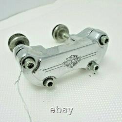 Harley Davidson Softail Dyna Sportster Bar & Shield Handlebar Riser Clamp Chrome