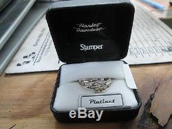 Harley Davidson Stamper Platinet B&S Bar & Shield Cubic Zirconia Ring PR7487CZ