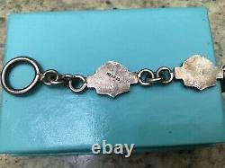 Harley Davidson Sterling Silver Bar & Shield link Bracelet