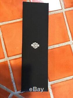Harley Davidson Sterling Willie G Skull Reversible Bar & Shield Pendant Necklace