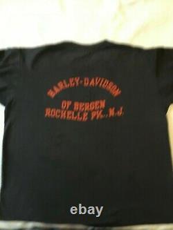 Harley Davidson Vintage Bar and Shield logo, New Jersey Biker T-Shirt 80's XL
