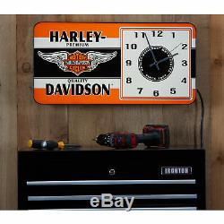Harley-Davidson Winged Bar & Shield LED Ad Clock