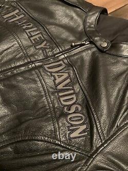 Harley Davidson Women Bar & Shield Black Leather Jacket Size M 98030-12VW