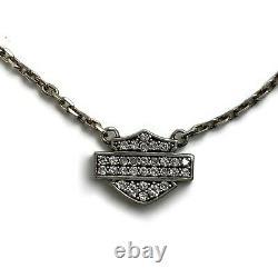 Harley Davidson Women's Bling Bar & Shield Necklace