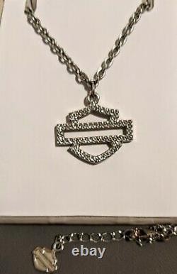 Harley Davidson Women's Bling Bar & Shield Necklace #99451-10VW -Originally $130