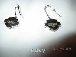 Harley Davidson Women's Crystal Bar & Shield Bracelet & Earrings