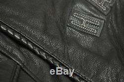 Harley Davidson Women's HERITAGE Braided Bar&Shield Leather Jacket 98064-13VW 1W