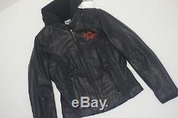 Harley Davidson Women's MOXIE Bar&Shield Leather Jacket 3 in 1 Hood 98003-11VW S