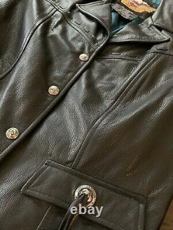 Harley Davidson Womens Leather Jacket Bar & Shield Size Medium