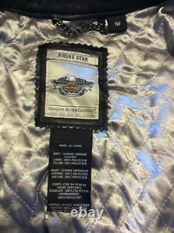 Harley Davidson Womens OLIVIA WOW Studded Bar&Shield Leather Jacket 97036-15VW