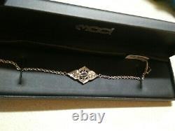 Harley Davidson Womens Sterling Silver Bracelet Hdb0399-7 New Hd Bar And Shield
