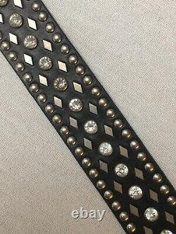 Harley-Davidson Womens Studs Crystal Bar & Shield Genuine Leather