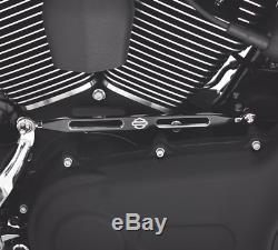 Harley Davidson black Custom Bar & Shield gear shift linkage cover touring