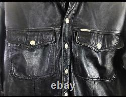 Harley Davidson leather shirt jacket bar shield Moto Mens Vintage-Medium