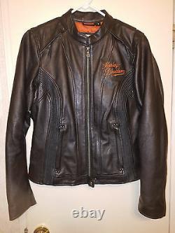 Harley Davidson womens MOXIE Bar & Shield Leather Jacket #98003-11VW M