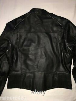 Harley Embossed Spell-Out / Bar & Shield Leather Jacket Men's Lrg 97009-04VM EUC