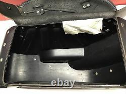 Harley OEM 02-17 Dyna Bar & Shield Leather Saddlebags
