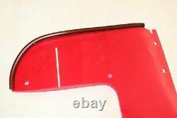 Harley Panhead Shovelhead Beaded Windshield Lower Window Stamped Bar Shield NOS