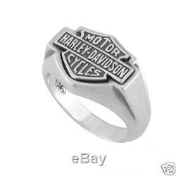 Harley-davidson Large Flat Bar & Shield Logo Ring (15)