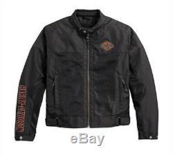 Harley-davidson Men's Bar & Shield Logo Mesh Ce Riding Jacket 98162-17em Large