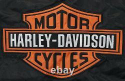 Harley davidson racing jacket 2XL nylon XXL black orange bar shield 97068-00V