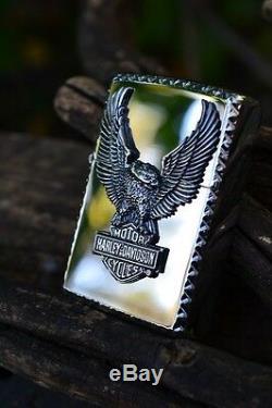 Japanese Harley Davidson Zippo Lighter Japan Eagle Bar and Shield HDP-22