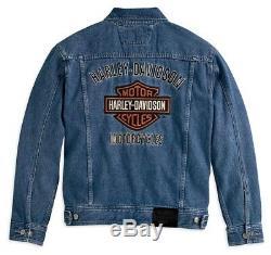 Jeans Jacke Harley-Davidson Bar & Shield Denim Herren Blau Gr. M