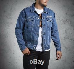 Jeans Jacke Harley-Davidson Bar & Shield Denim Herren Blau Gr. XXL