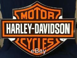 Large Harley Davidson Bar and Shield Lighted Sign