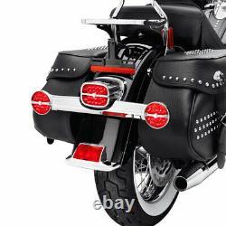 Led Rear Turn Signal Red Lens Bar Shield Flstc Touring Ultra Bagger 68128-10