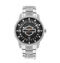 Men's Harley Davidson by Bulova Bar & Shield Watch #76B182