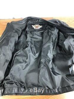 Mens Harley Davidson Black Bar Shield Leather Jacket 98112-06VM XL Extra Large