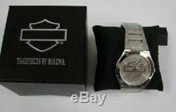 Mens Harley-Davidson Bulova Bar & Shield Signature Collection Watch 76A134 w Box