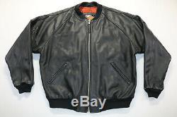 Mens harley davidson jacket leather bomber 2xl xxl black embossed bar shield