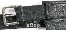 Mens harley davidson leather chaps xl black stock 98090-06VM bar shield uncut