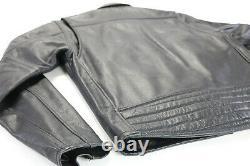 Mens harley davidson leather jacket S black Open Road embossed bar shield zip