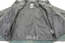 Mens harley davidson leather shirt jacket XL black bar shield snap 98111-98VM
