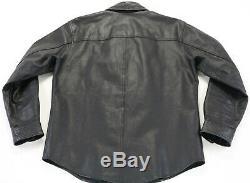 Mens harley davidson leather shirt jacket m black bar shield snap 98111-98VM