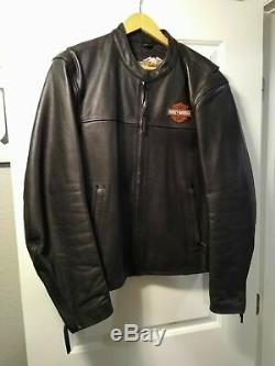 NEW Harley Davidson Leather Motorcycle Jacket BAR AND SHIELD SIZE XL CLASSIC