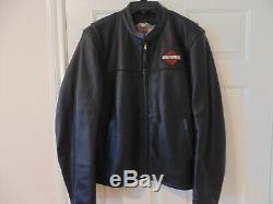 NEW Harley Davidson Mens Large/XL Bar and Shield Leather Motorcycle Jacket
