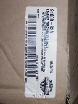 NEW Harley-Davidson Throw-Over Bar & Shield Saddlebags Black Leather 91008-82A
