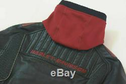 NEW Men's Harley Davidson Bar And Shield Leather Riding Jacket with Hood