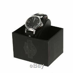 NOB Harley Davidson Men's Bulova Ghost Bar & Shield Wrist Watch