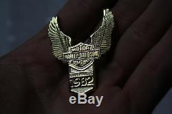NOS 1982 Harley FLH FXR AMF fender emblem Wings Bar & Shield Shovelhead EPS22186
