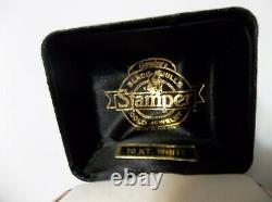 NWT HARLEY-DAVIDSON Womens Stamper Ring 10K White Gold Bar & Shield Size 6 1/2-7