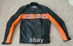 New Harley Davidson Bar and Shield Classic Leather Jacket Heavy cowhide Large